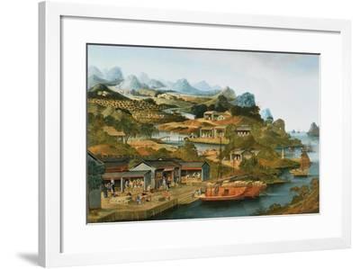The China Tea Trade, 1790-1800--Framed Giclee Print