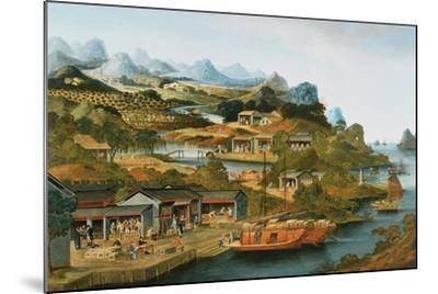 The China Tea Trade, 1790-1800--Mounted Giclee Print