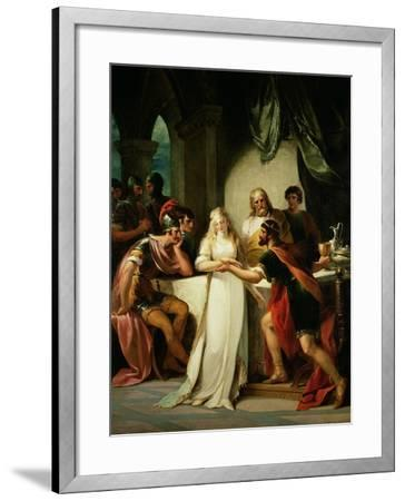 Vortigern and Rowena, 1793-William Hamilton-Framed Giclee Print
