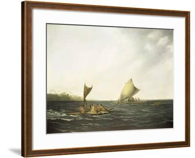 Tonga Canoes-John Webber-Framed Giclee Print