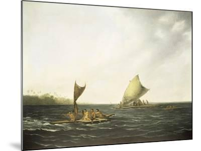 Tonga Canoes-John Webber-Mounted Giclee Print