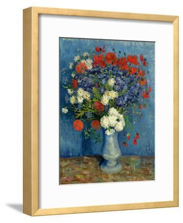 Still Life: Vase with Cornflowers and Poppies, 1887-Vincent van Gogh-Framed Giclee Print