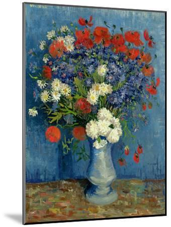 Still Life: Vase with Cornflowers and Poppies, 1887-Vincent van Gogh-Mounted Giclee Print