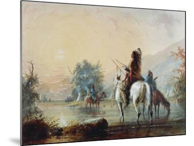 Crow Encampment, 1837-Alfred Jacob Miller-Mounted Giclee Print