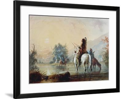 Crow Encampment, 1837-Alfred Jacob Miller-Framed Giclee Print