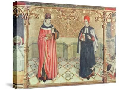 St. Cosmas and St. Damian-Jaume Huguet-Stretched Canvas Print