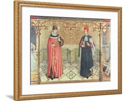 St. Cosmas and St. Damian-Jaume Huguet-Framed Giclee Print