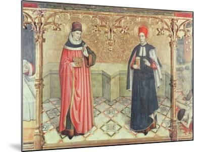 St. Cosmas and St. Damian-Jaume Huguet-Mounted Giclee Print