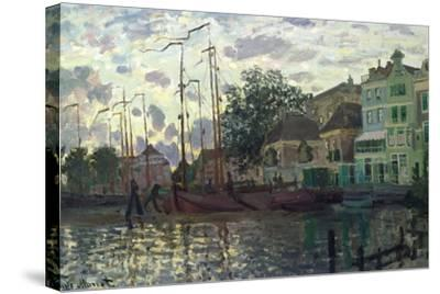 The Dam at Zaandam, Evening, 1871-Claude Monet-Stretched Canvas Print