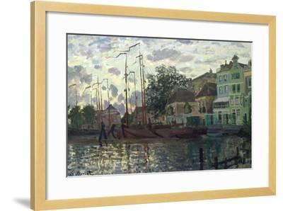 The Dam at Zaandam, Evening, 1871-Claude Monet-Framed Giclee Print