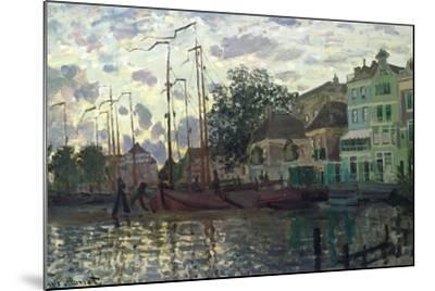 The Dam at Zaandam, Evening, 1871-Claude Monet-Mounted Giclee Print