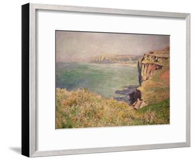 Cliff at Varengeville, 1882-Claude Monet-Framed Giclee Print