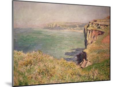 Cliff at Varengeville, 1882-Claude Monet-Mounted Giclee Print