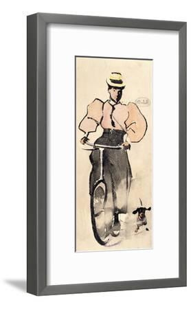 Girl on a Bicycle, C.1896-Joseph Crawhall-Framed Giclee Print