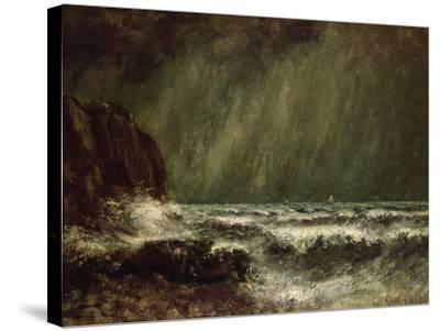 Storm at Sea, 1865-Gustave Courbet-Stretched Canvas Print
