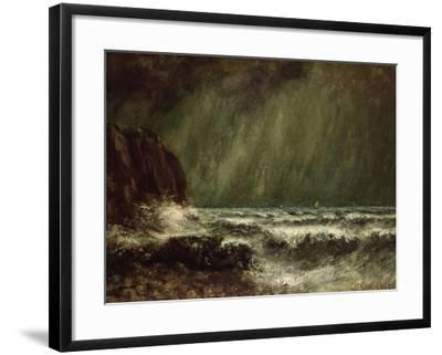 Storm at Sea, 1865-Gustave Courbet-Framed Giclee Print