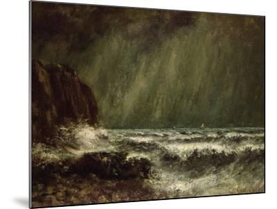 Storm at Sea, 1865-Gustave Courbet-Mounted Giclee Print