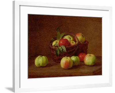 Apples in a Basket and on a Table, 1888-Henri Fantin-Latour-Framed Giclee Print