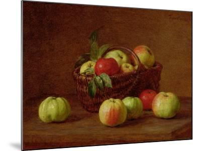 Apples in a Basket and on a Table, 1888-Henri Fantin-Latour-Mounted Giclee Print