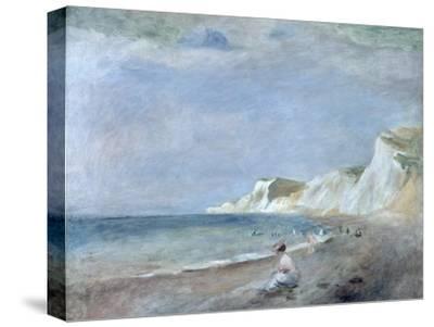 The Beach at Varangeville, C.1880-Pierre-Auguste Renoir-Stretched Canvas Print