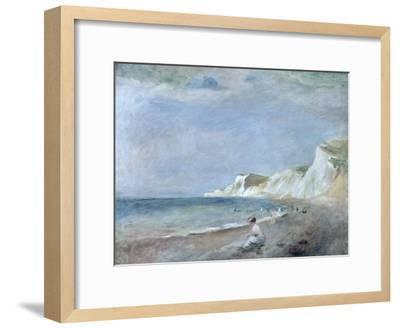The Beach at Varangeville, C.1880-Pierre-Auguste Renoir-Framed Premium Giclee Print