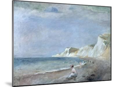 The Beach at Varangeville, C.1880-Pierre-Auguste Renoir-Mounted Premium Giclee Print