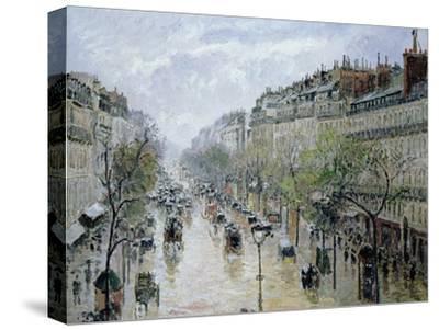 Boulevard Montmartre, 1897-Camille Pissarro-Stretched Canvas Print