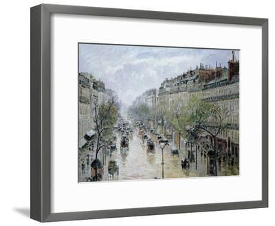 Boulevard Montmartre, 1897-Camille Pissarro-Framed Giclee Print