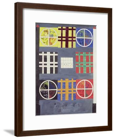 Symbolic Designs on the Door of the Vault of the Adepts, C.1894--Framed Giclee Print