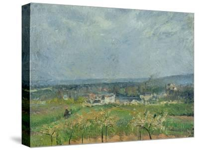 Landscape in Pontoise, 1877-Camille Pissarro-Stretched Canvas Print