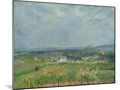 Landscape in Pontoise, 1877-Camille Pissarro-Mounted Giclee Print