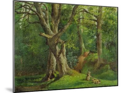 Woodland Scene with Rabbits, 1862-Hubert von Herkomer-Mounted Giclee Print
