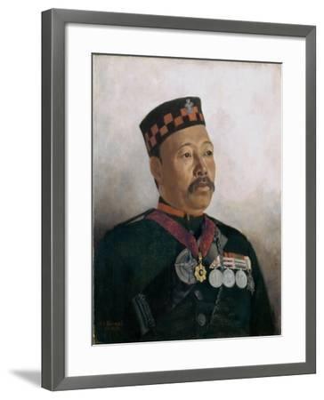 Subadar Major Judbhir Thapa, 2nd Gurkha Regiment, 1893-Gertrude Ellen Burrard-Framed Giclee Print