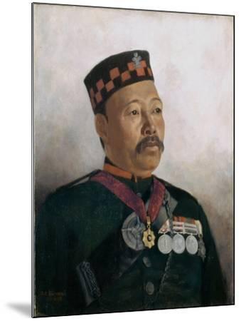 Subadar Major Judbhir Thapa, 2nd Gurkha Regiment, 1893-Gertrude Ellen Burrard-Mounted Giclee Print