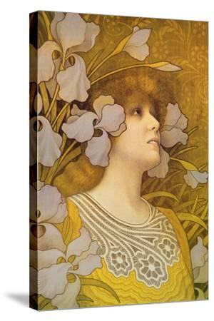 Sarah Bernhardt (1844-1923)-Paul Berthon-Stretched Canvas Print