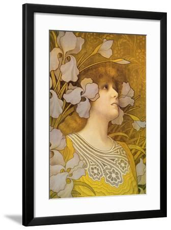 Sarah Bernhardt (1844-1923)-Paul Berthon-Framed Giclee Print