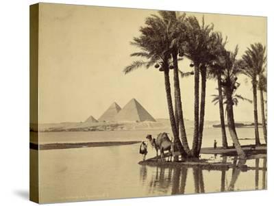 The Pyramids, 1860-69-G^ Lekegian-Stretched Canvas Print