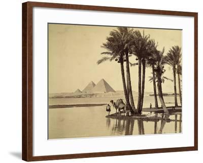 The Pyramids, 1860-69-G^ Lekegian-Framed Photographic Print