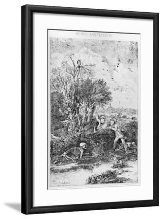 The Hunters Overtaken by Death, 1857-Rodolphe Bresdin-Framed Giclee Print