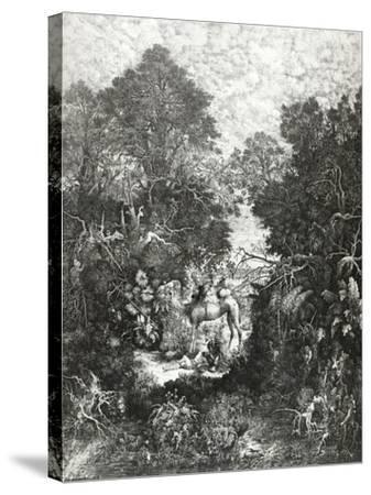 The Good Samaritan, 1861-Rodolphe Bresdin-Stretched Canvas Print