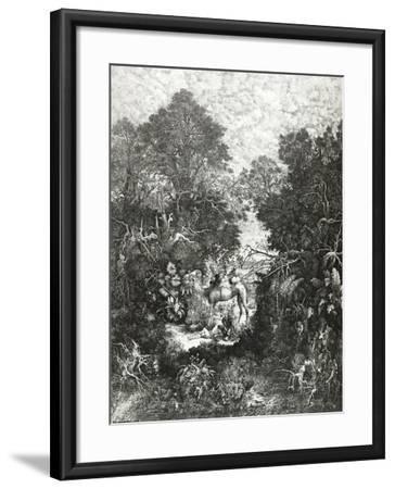 The Good Samaritan, 1861-Rodolphe Bresdin-Framed Giclee Print