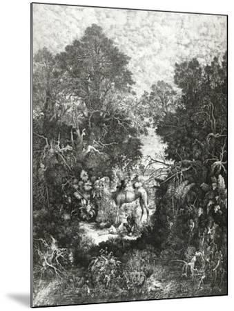 The Good Samaritan, 1861-Rodolphe Bresdin-Mounted Giclee Print