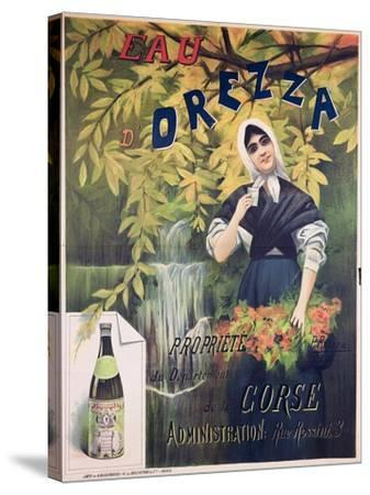 Poster Advertising 'Eau D'Orezza', Natural Mineral Water-P. Ribera-Stretched Canvas Print