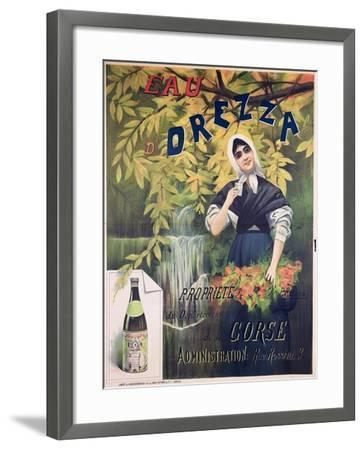 Poster Advertising 'Eau D'Orezza', Natural Mineral Water-P. Ribera-Framed Giclee Print
