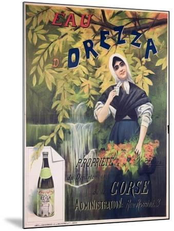 Poster Advertising 'Eau D'Orezza', Natural Mineral Water-P. Ribera-Mounted Giclee Print