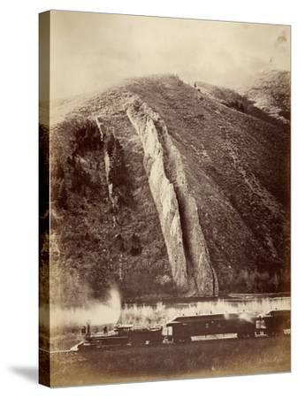 The Devil's Slide, Union Pacific Railroad, Utah, 1880-Carleton Emmons Watkins-Stretched Canvas Print
