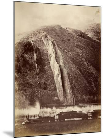 The Devil's Slide, Union Pacific Railroad, Utah, 1880-Carleton Emmons Watkins-Mounted Photographic Print