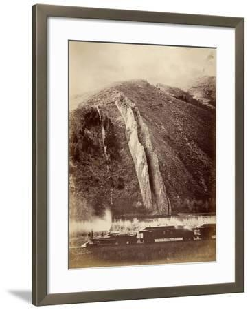 The Devil's Slide, Union Pacific Railroad, Utah, 1880-Carleton Emmons Watkins-Framed Photographic Print