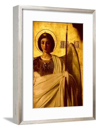 Detail of the Iconostasis Depicting the Archangel St. Michael, 1861-Evgraf Sorokine-Framed Giclee Print