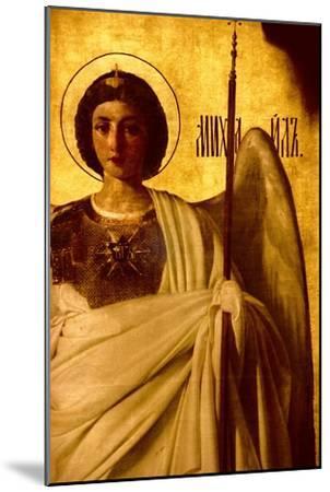 Detail of the Iconostasis Depicting the Archangel St. Michael, 1861-Evgraf Sorokine-Mounted Giclee Print
